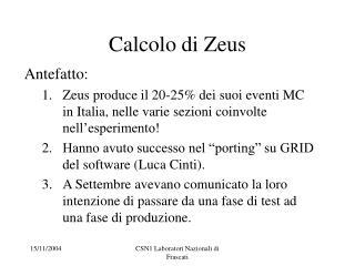 Calcolo di Zeus