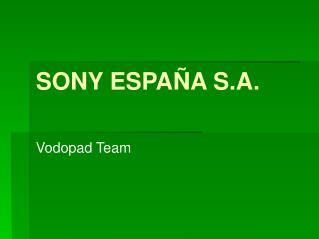 SONY ESPAÑA S.A.