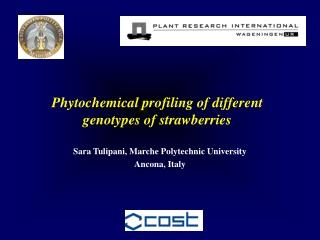 Phytochemical profiling of different genotypes of strawberries