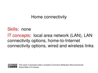 Home connectivity