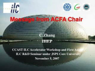Message from ACFA Chair