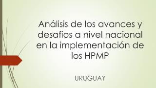 Análisis de los avances y desafíos a nivel nacional en la implementación de los HPMP