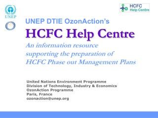 United Nations Environment Programme Division of Technology, Industry & Economics