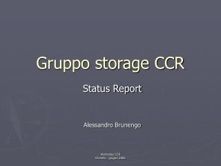Gruppo storage CCR