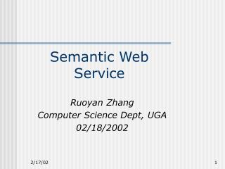 Semantic Web Service
