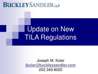 Update on New  TILA Regulations