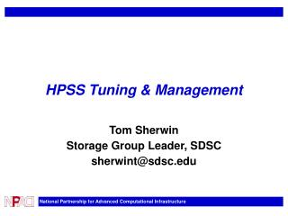 HPSS Tuning & Management