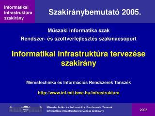Szakiránybemutató 2005.