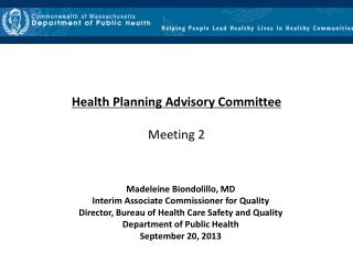 Health Planning Advisory Committee Meeting 2