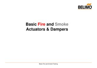 Basic  Fire  and  Smoke  Actuators & Dampers