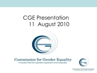 CGE Presentation      11  August 2010