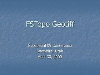 FSTopo Geotiff
