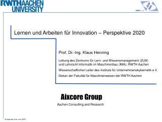 Lernen und Arbeiten für Innovation – Perspektive 2020