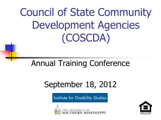 Council of State Community Development Agencies (COSCDA)