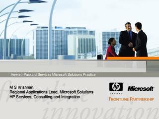 Hewlett-Packard Services Microsoft Solutions Practice