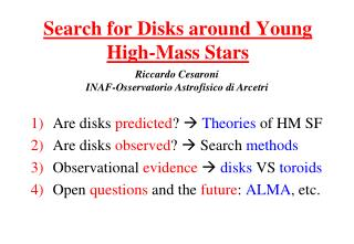 Search for Disks around Young High-Mass Stars