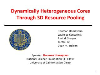 Dynamically Heterogeneous Cores Through 3D Resource Pooling