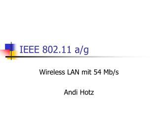 IEEE 802.11 a/g