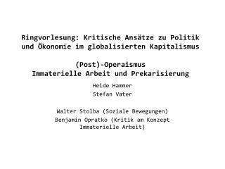 Heide Hammer Stefan Vater Walter Stolba (Soziale Bewegungen)