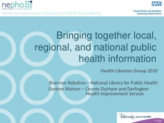 Bringing together local, regional, and national public health information