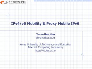 IPv4/v6 Mobility & Proxy Mobile IPv6