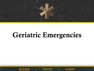 Geriatric Emergencies