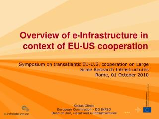 Overview of e-Infrastructure in context of EU-US cooperation
