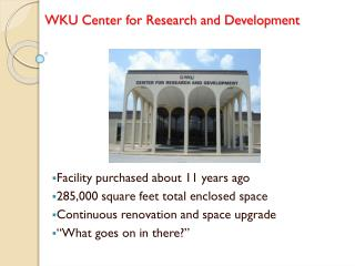 WKU Center for Research and Development