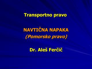 Transportno pravo