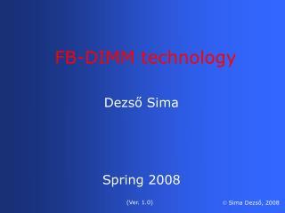 Dezső  Sima Spring 2008