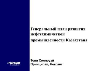Генеральный план развития нефтехимической промышленности Казахстана Тони Холлоуэй