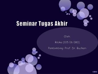 Seminar  Tugas Akhir