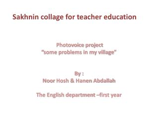 Sakhnin collage for teacher education