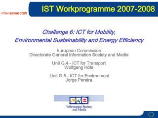 IST Workprogramme 2007-2008