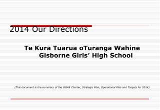 2014 Our Directions
