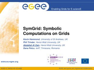 SymGrid: Symbolic Computations on Grids