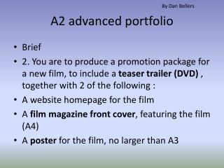 A2 advanced portfolio