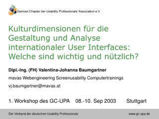 Dipl.-Ing. (FH) Valentina-Johanna Baumgartner