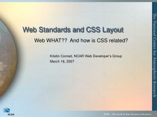 Web Standards and CSS Layout