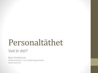 Personaltäthet