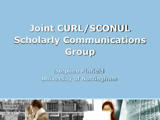 Joint CURL/SCONUL  Scholarly Communications Group