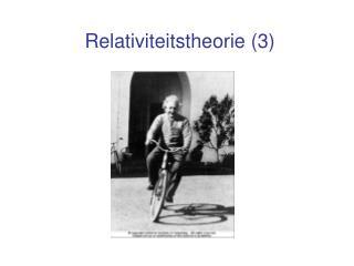 Relativiteitstheorie (3)