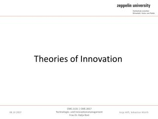 Theories of Innovation