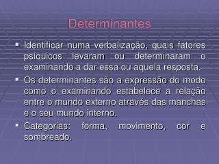 Determinantes