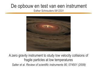 De opbouw en test van een instrument Esther  Schreuders  0812331