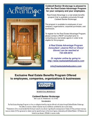 Coldwell Banker  Brokerage 864 route 35, Middletown, NJ  07940 732-439-0016