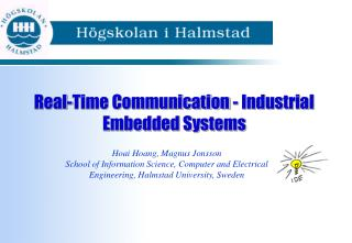 Real-Time Communication - Industrial Embedded Systems