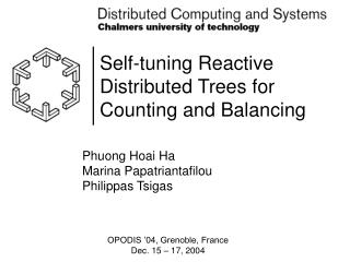 Self-tuning Reactive Distributed Trees for Counting and Balancing