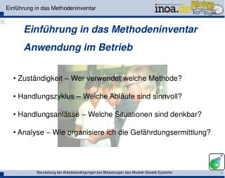 Einf�hrung in das Methodeninventar