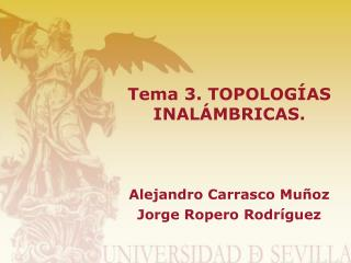 Tema 3. TOPOLOGÍAS INALÁMBRICAS.